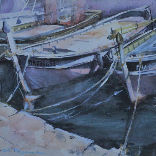 Barque dans les Calanque